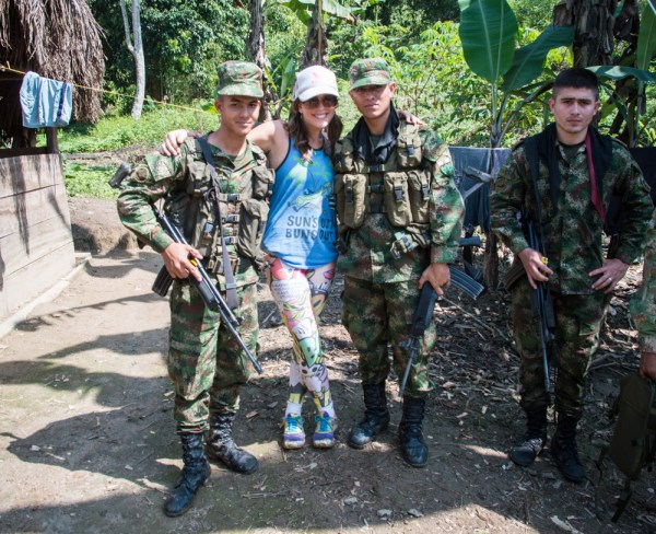 Soldiers on the Ciudad Perdido hike, Colombia by Wandering Wheatleys