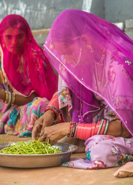 Indian Woman Wearing Bangles