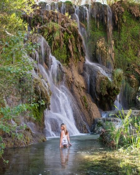 Bathing in Fifty Foot Falls, Havasu Canyon, Arizona by Wandering Wheatleys