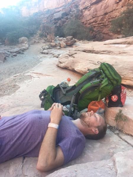 Taking a break in Havasu Canyon by Wandering Wheatleys