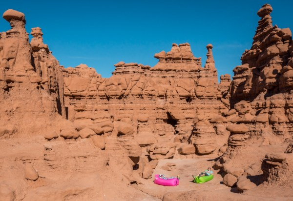 Relaxing in Goblin Valley