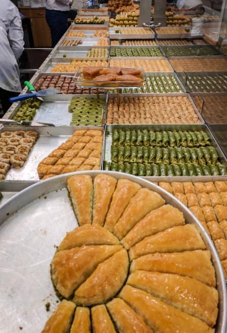 Baklava at Hafiz Moustafa in Istanbul, Turkey by Wandering Wheatleys