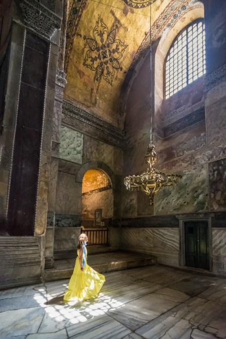 Inside the Hagia Sophia in Instanbul, Turkey by Wandering Wheatleys