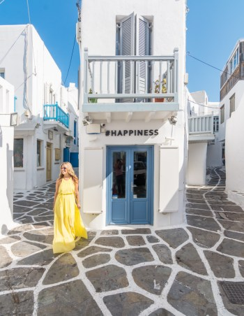 Beautiful streets of Mykonos