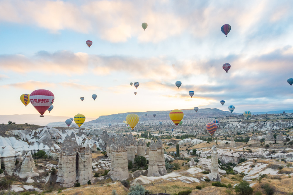 Hot air balloons over Cappadocia by Wandering Wheatleys