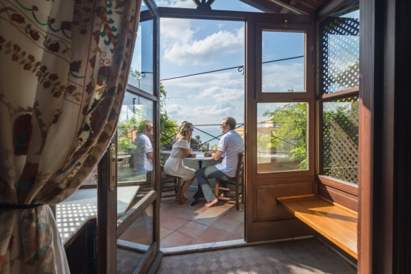 Room with a view at Hotel Empress Zoe by Wandering Wheatleys