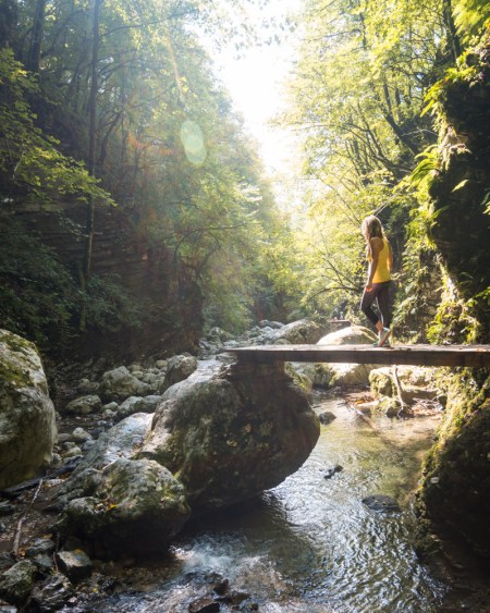 Hiking to Kozjak Waterfall, Slovenia