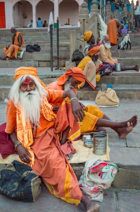 Sadhus in Varanasi, India by Wandering Wheatleys