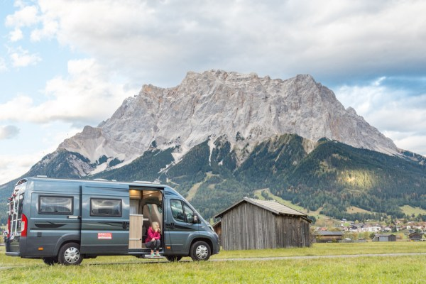 Campervan Views in Ehrwald, Austria by Wandering Wheatleys
