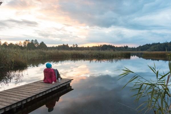 Sunet at Fohn See Lake, Germany by Wandering Wheatleys