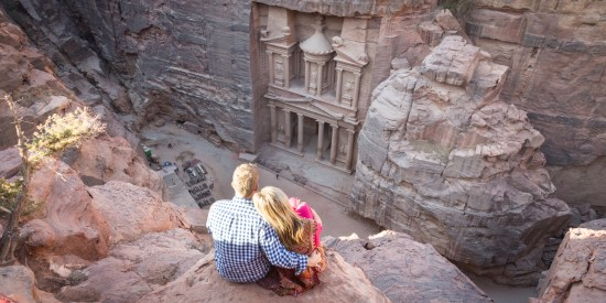 Views of the Treasury at Petra, Jordan by Wandering Wheatleys