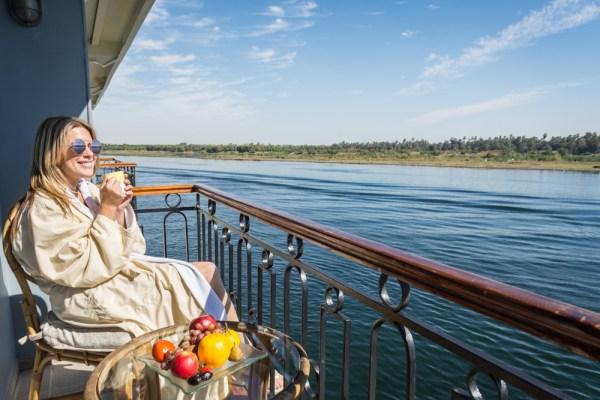 Balcony views on our Sonesta Cruise, Egypt by Wandering Wheatleys