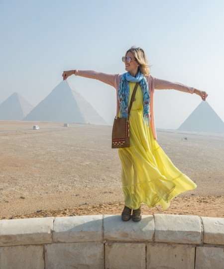 Panorama Point at the pyramids, Giza, Egypt by Wandering Wheatleys