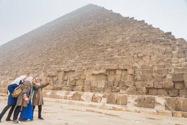 Selfies at the Pyramids, Giza, Egypt