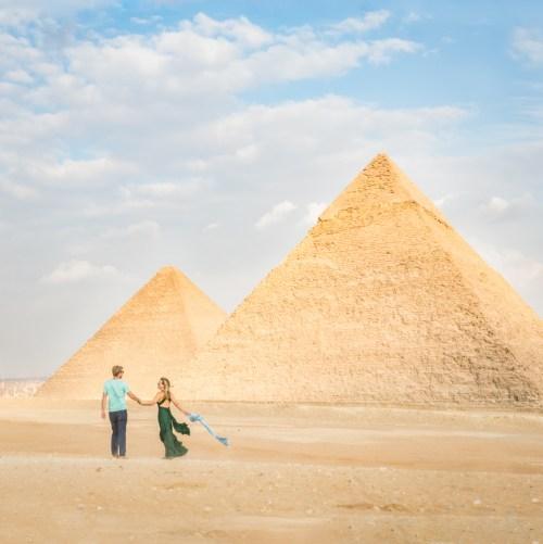 Pyramids of Gaza, Egypt by Wandering Wheatleys