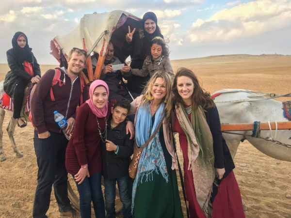 Local family at the Pyramids of Gaza, Egypt by Wandering Wheatleys