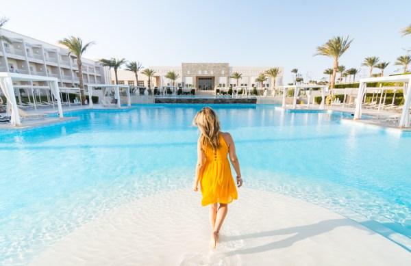 The main pool at Jaz Aquaviva, Makadi, Egypt by Wandering Wheatleys
