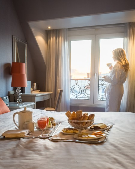 Sunrise at Hotel Rochester Champs-Elysees, Paris, France by Wandering Wheatleys