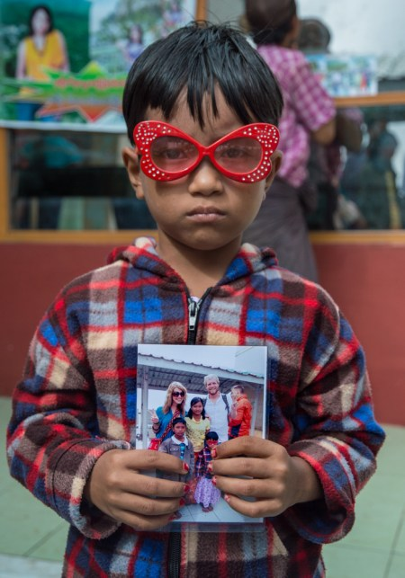 Funny kid at Mount Poppa, Myanmar by Wandering Wheatleys
