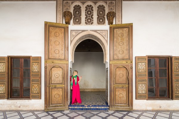 Doorway in the Palace of Bahia, Marrakech, Morocco by Wandering Wheatleys