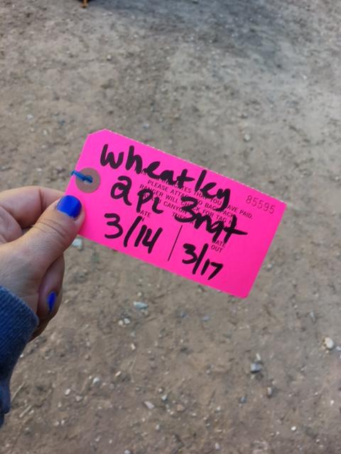 Tent permit for Havasu Falls by Wandering Wheatleys