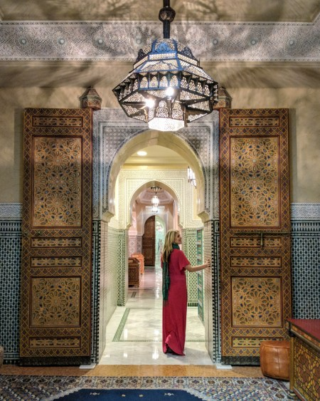 Entrance to L'Herbier de Atlas, Marriott Jnan Palace, Fes, Morocco by Wandering Wheatleys