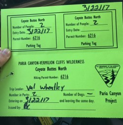 Permit for The Wave, Arizona by Wandering Wheatleys
