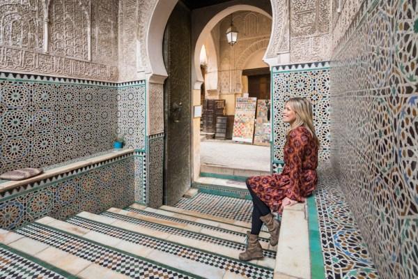Entrance to Bou Inania Madrasa, Fes, Morocco by Wandering Wheatleys