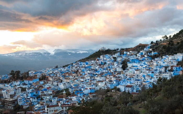 Sunset over Chefchaouen, Morocco by Wandering Wheatleys