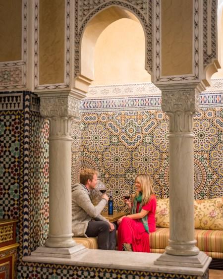 Drinking wine in Morocco by Wandering Wheatleys