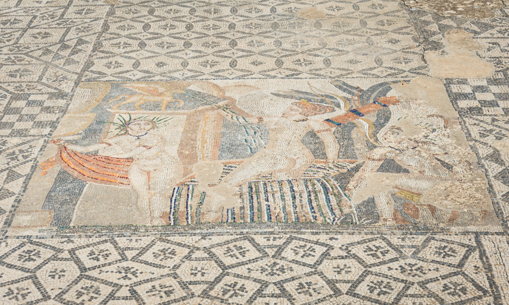 Mosaic at the House of Venus, Volubilis, Morocco by Wandering Wheatleys