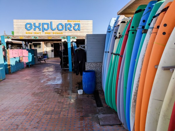 Surf shop in Essaouira, Morocco by Wandering Wheatleys