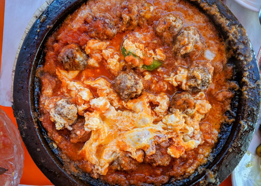 What to Eat in Morocco: Kefta Tajine with Eggs by Wandering Wheatleys