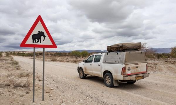 Elephant Crossing in Namibia by Wandering Wheatleys