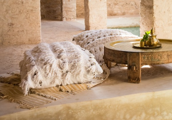 Moroccan Wedding Blanket and Pillow by Wandering Wheatleys