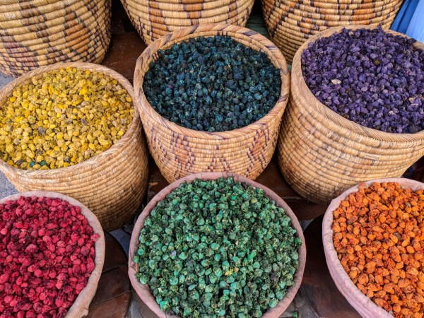 Shopping in Morocco: Colorful Teas by Wandering Wheatleys