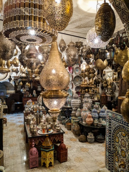 Shopping in Morocco: Metal Lamps by Wandering Wheatleys