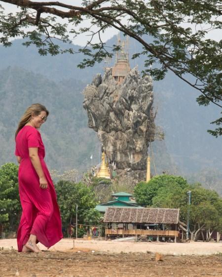 Kyauk Kalap Pagoda, Hpa-an, Myanmar
