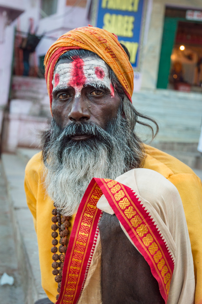 Sadhu Holy Man in Varanasi, India