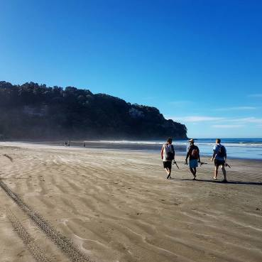 Walk along the beach to Otarawairere Beach