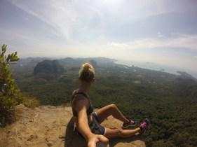 Admiring the spectacular views ahead