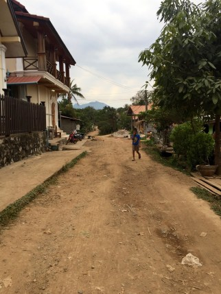 Dirt roads on this side of Luang Prabang