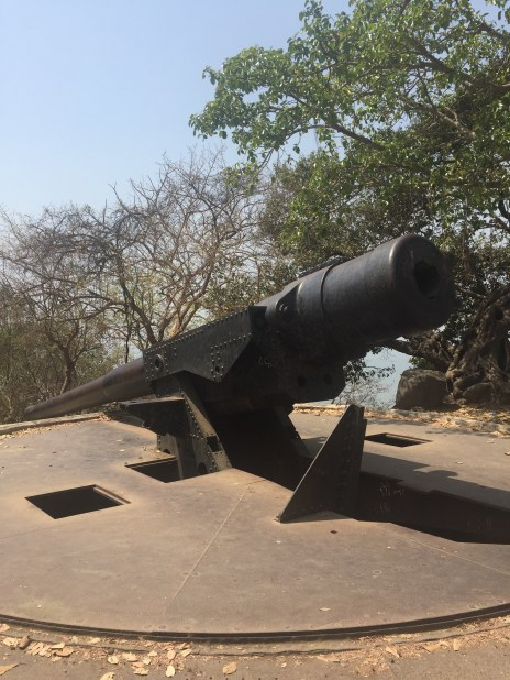 The cannons on top of the mountains