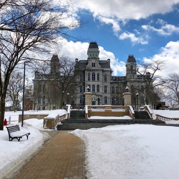 Hall of Languages in the Winter