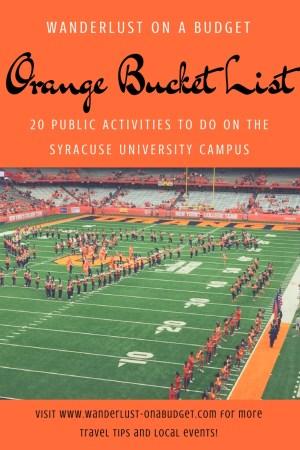 Orange Bucket List - 20 Public Activities on the Syracuse University Campus - things to do in Syracuse New York - Wanderlust on a Budget - www.wanderlust-onabudget.com