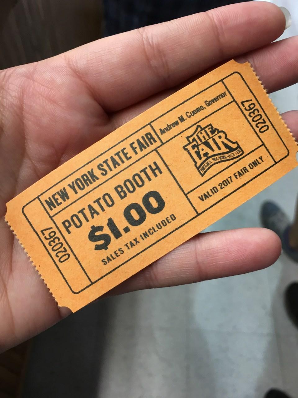 NYSF Potato Booth