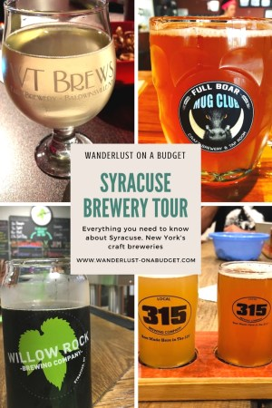 Syracuse Brewery Tour - Craft beer - New York - Empire Brewery - Middle Ages Brewery - Eastwood Brewing - Local 315 Brewing - WT Brews - Willow Rock Brewing - IBU Brewery - Full Boar Craft Beer - www.wanderlust-onabudget.com