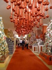 NYC inside Macys Holiday Lane