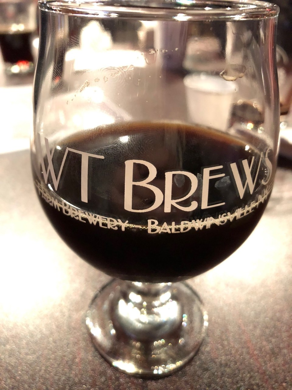 WT Brews Glass