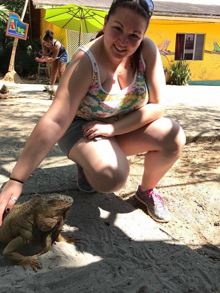 Roatan Bay Iguana Feeding